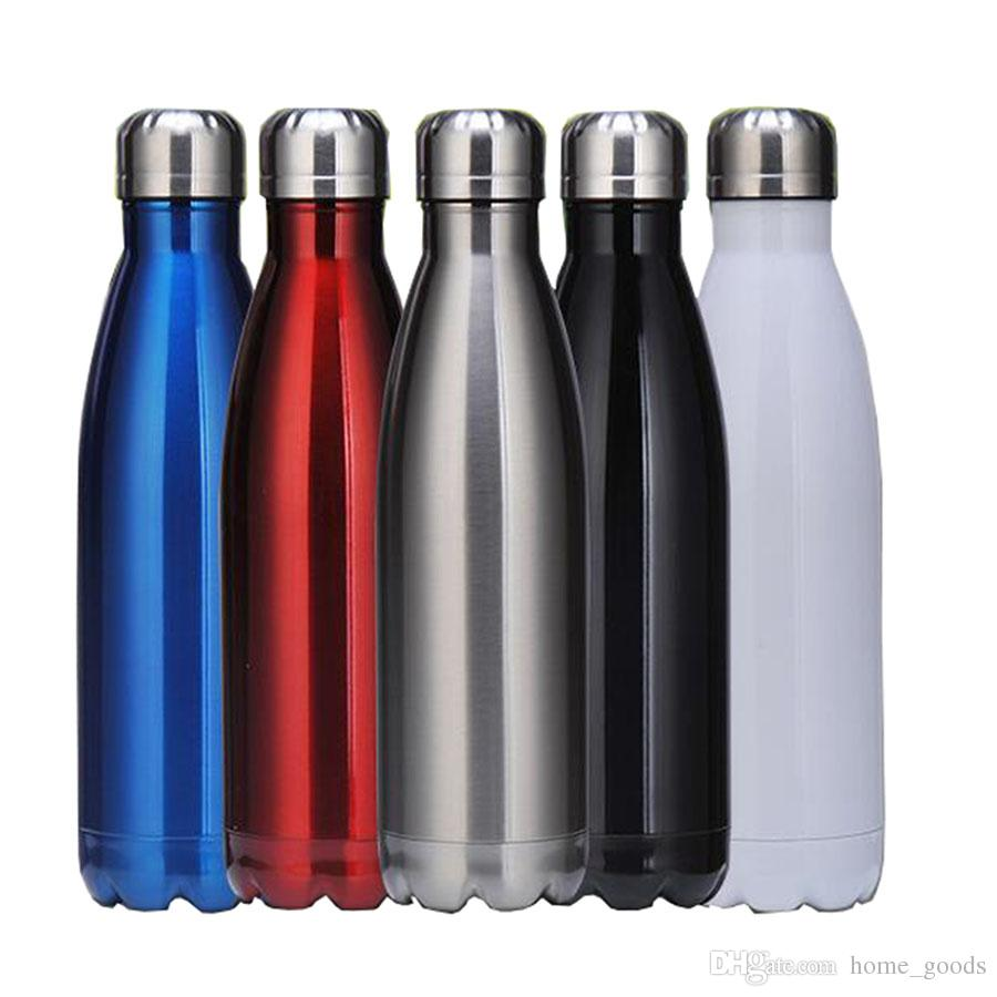 Stainless Steel tumbler Cola Shaped Water bottle 500ML Vacuum Insulated Outdoor sport Travel Creative Cups Coke Bowling Water Bottles
