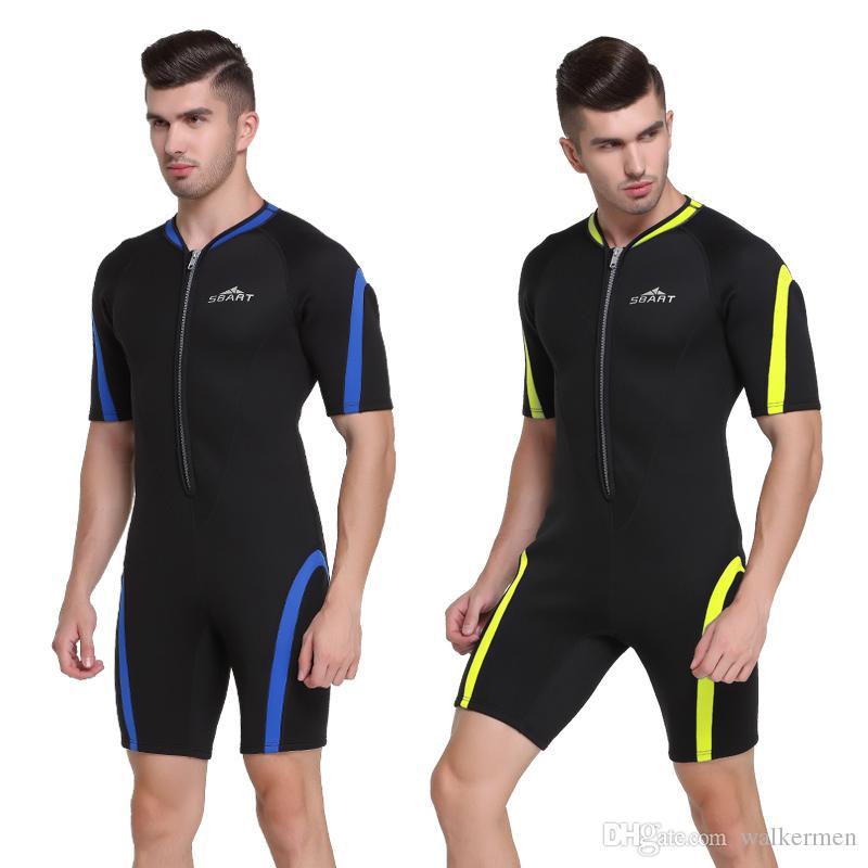beee9398f6 Neoprene Wetsuit Men Snorkeling Surf Mergulho 2mm Warm One Piece ...