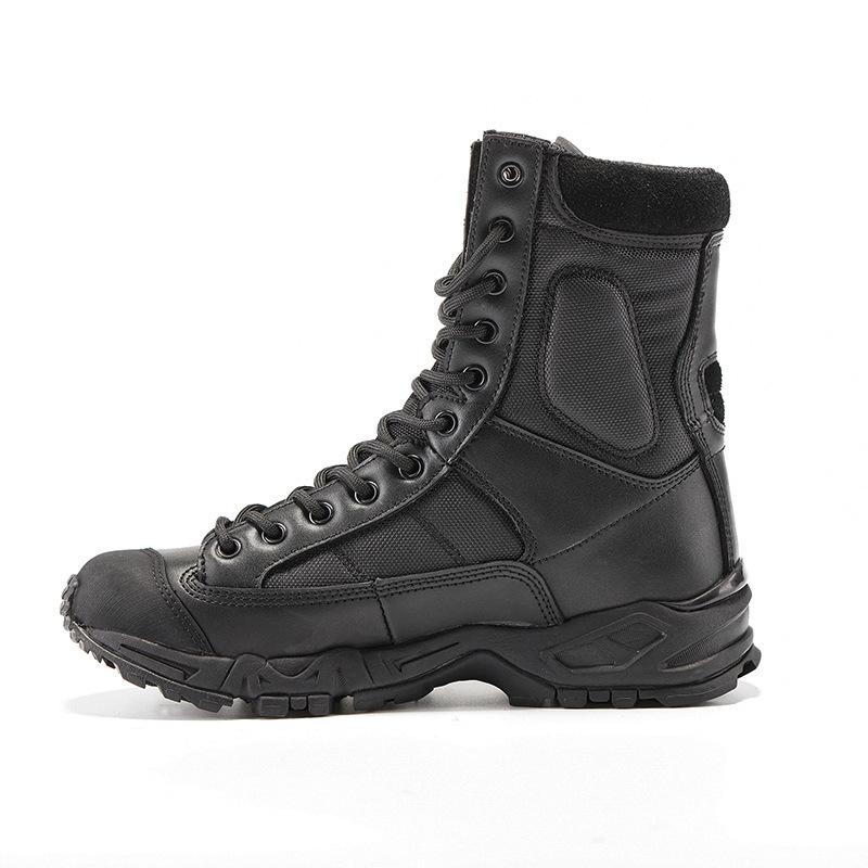 4ce0710798142 Military Army Boots Men Black Leather Desert Combat Work Shoes Winter Mens  Ankle Tactical Boot Man Plus Size Cheap Shoes Online Shoes For Sale From ...