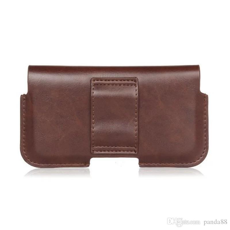 Caso de cobertura de bolsa de clipe de cinto de couro pu universal para sony xperia xz2 premium / l1 / xa1 mais