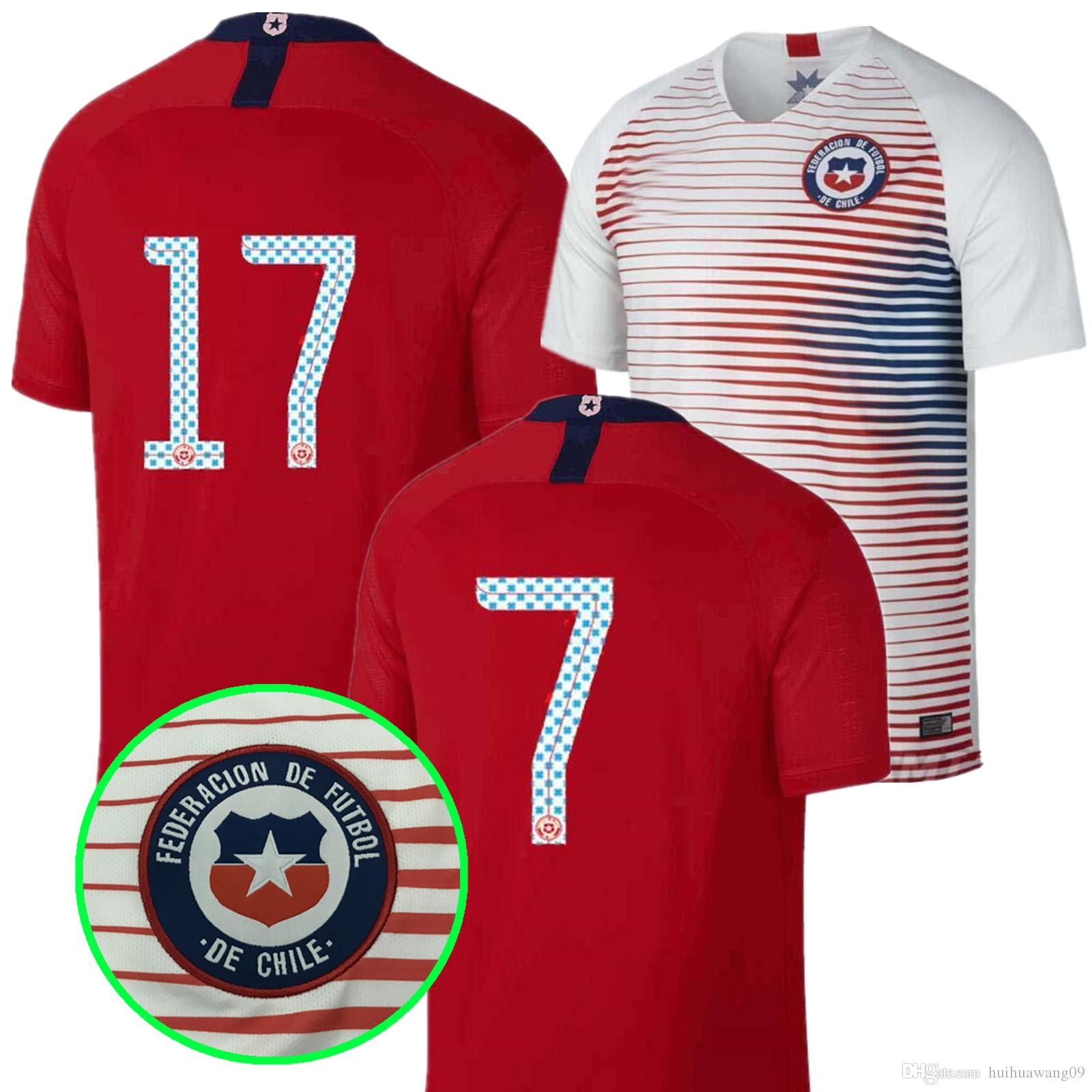 ... shop best 2018 world cup chile home white away socce jersey 18 19  national team jerseys 6095b9331