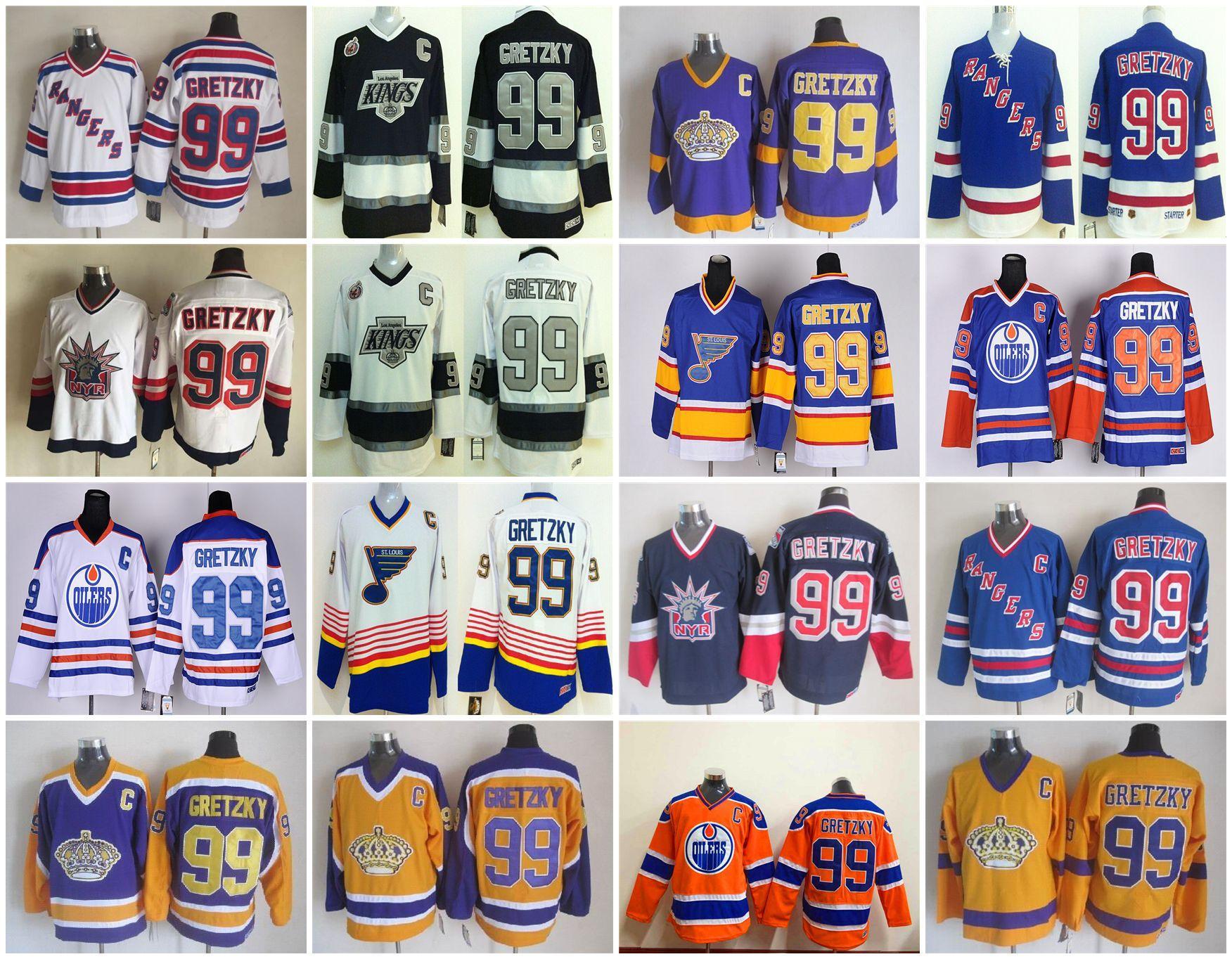 Heroes Of Hockey Wayne Gretzky Jerseys NO.99 Edmonton Oiler St ... 6bc56784e