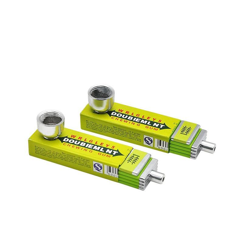 Metallrohr-Aluminiumlegierungs-Kaugummi-Form-entfernbares Qualitäts-Minipfeifen-Rohr-tragbarer einzigartiger Entwurf einfach, sauber zu tragen
