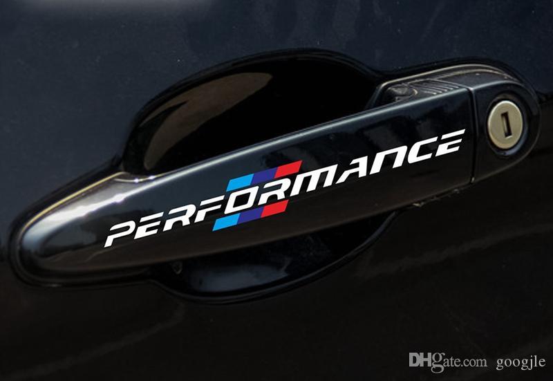 / SET 자동차 스타일링 자동차 도어 핸들 자동차 스티커 성능 장식 범용 BMW f30 f34 f10 e46 e39 e60 e90 e70 e71 x1 x3 x5 x6