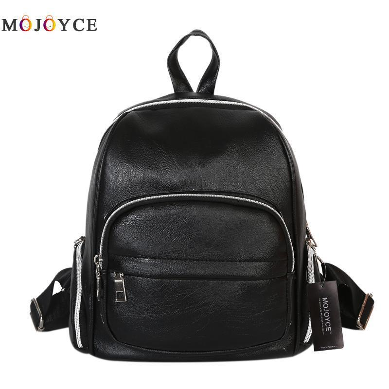 New Winter Travel Backpack Korean Women Backpack Leisure Student Schoolbag  Soft PU Leather Women Shoulder Bag Satchel Mochila Backpacks Bags From  Guonei 9a73d9f6c306e