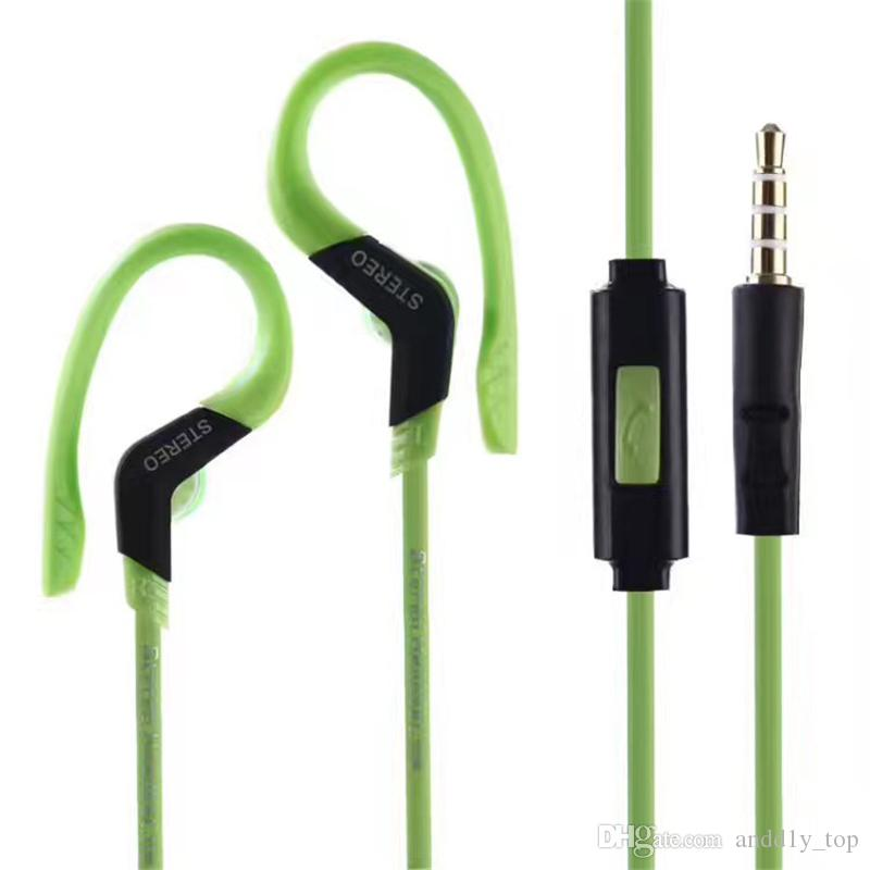Sportkopfhörer Kopfhörer mit Mikrofon In-Ear-Ohrbügel Musik Stereo-Headset Sport-Fi Universal-Kopfhörer Schwarz Weiß Blau Rot Grün