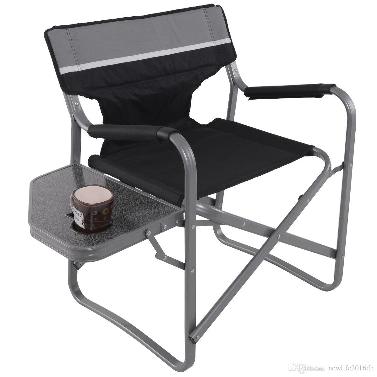 Director S Chair Folding Side Table Outdoor Camping Fishing Cup