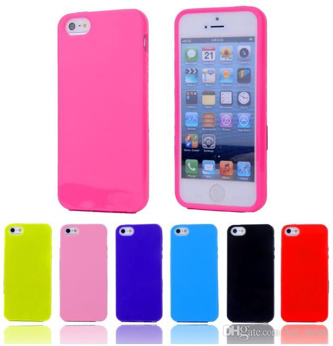 For iPhone 4S Case Silicone Cute Candy TPU Gel Soft Case Rubber Back Cover For Apple iPhone4 Phone Bag Cases