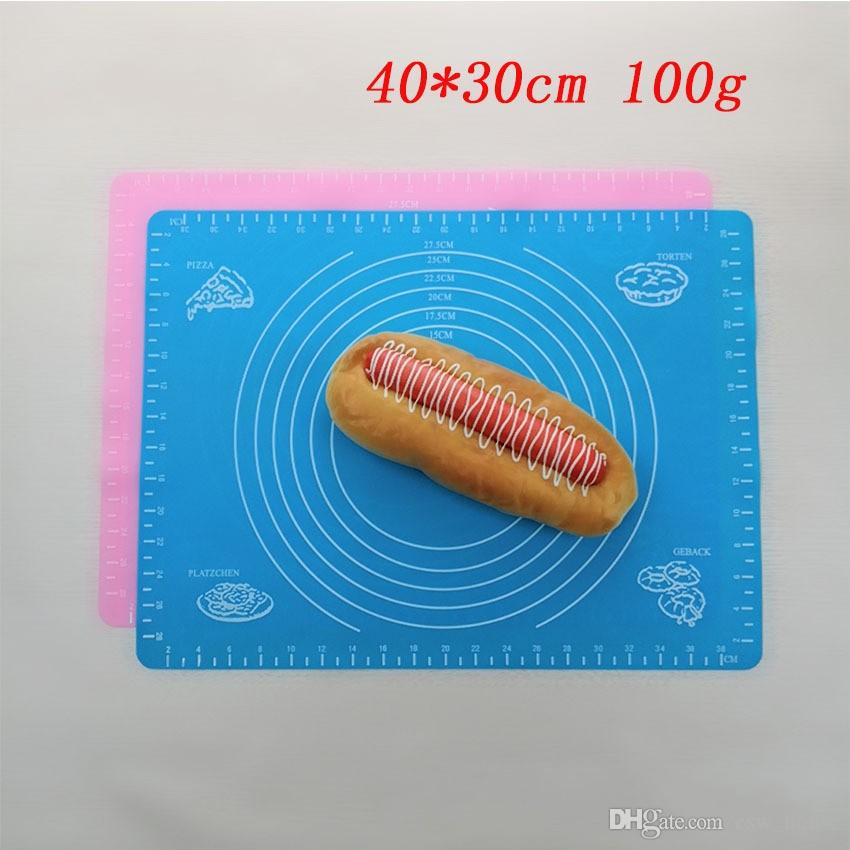 40cm*30cm Silicone Rolling Cut Mat Pastry board pad Sugarcraft Fondant Clay Pastry Icing Dough Cake Tool candy color you can choose