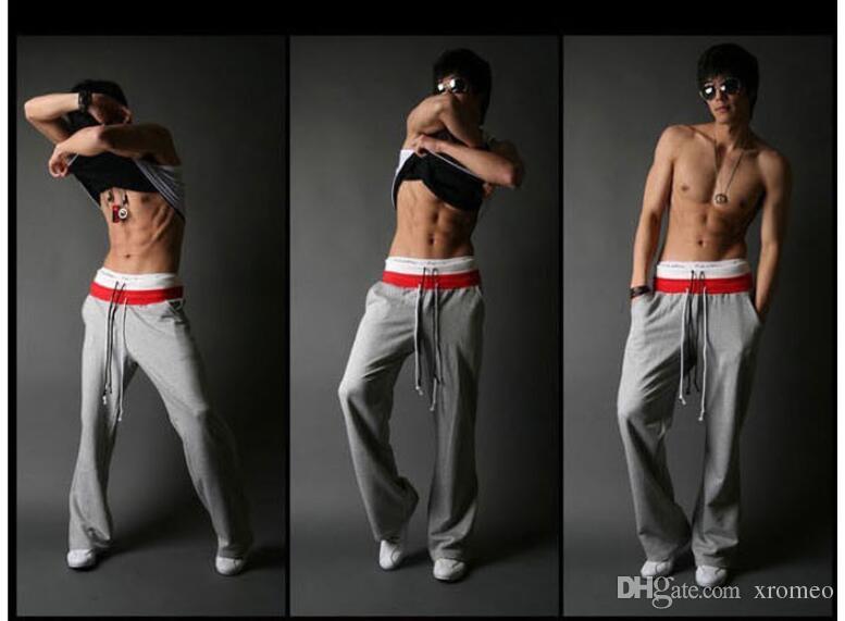 Pantaloni sportivi da uomo Pantaloni lunghi dritti con tasche Pantaloni sportivi Pantaloni sportivi con coulisse
