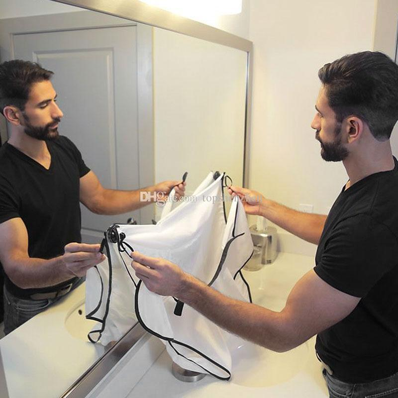 120x80cm 새로운 패션 남자 화장실 수염 비브 높은 학년 방수 폴리 에스터 명주 수염 치료 트리머 헤어 면도 앞치마
