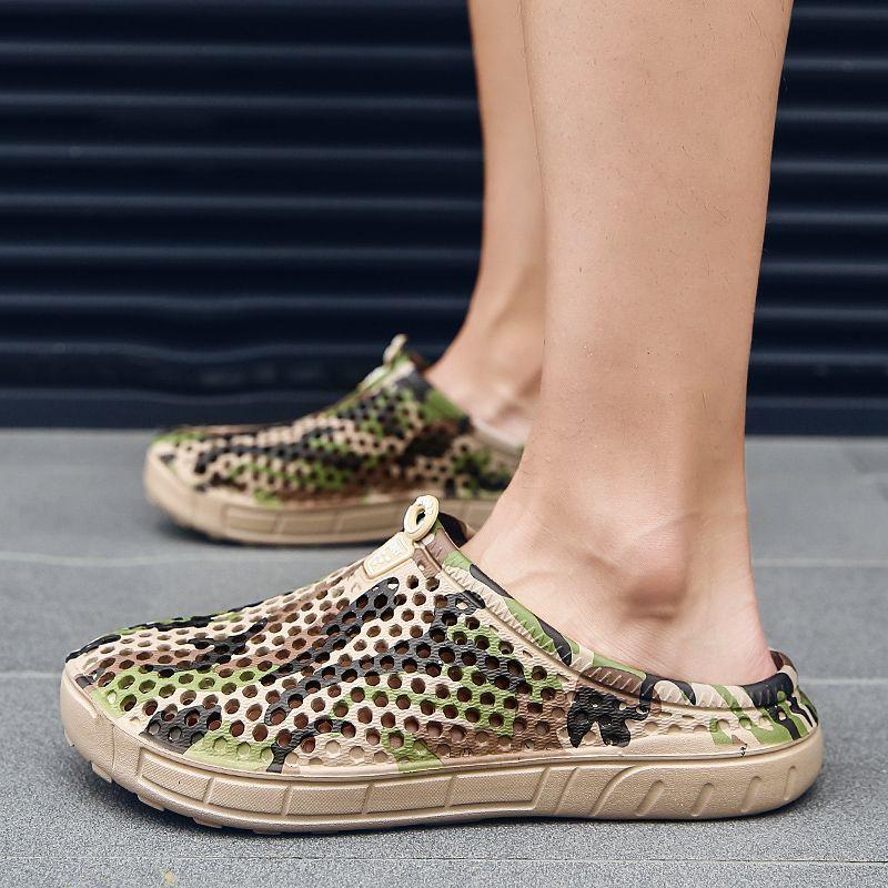 e4241e230b3 Summer Croc Clogs Slip On Garden Lightweight Beach Sandals Men Nativ Casual  Water Aqua Swimming Glitter Band EVA Classic Shoes Online with  29.71 Pair  on ...