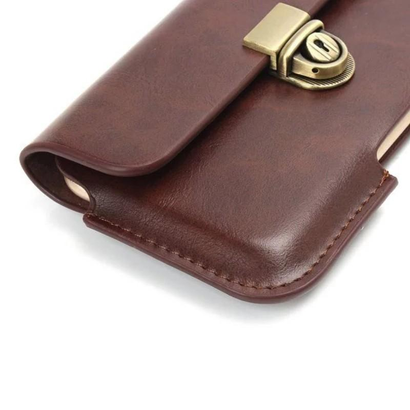 Universal PU Leather Belt Clip Pouch Cover Case for Lenovo Moto G4 Play/Vibe C/Vibe K5 Plus