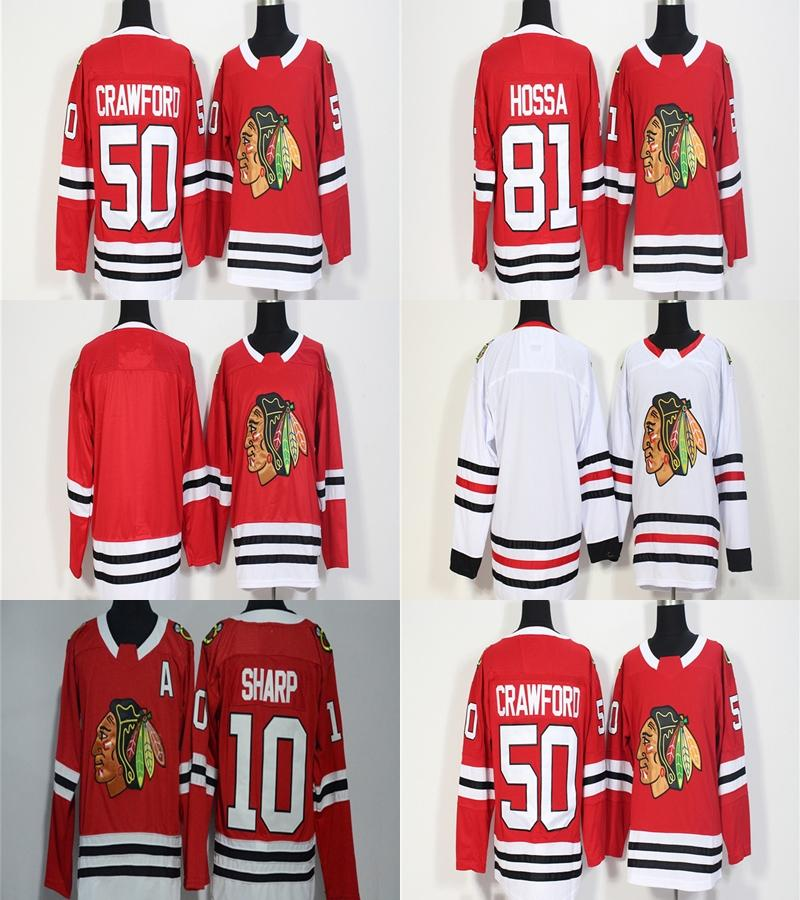 2019 Mens Womens Youth Custom Blank Chicago Blackhawks 10 Patrick Sharp 50  Corey Crawford 81 Marian Hossa Blank Red White Cheap Hockey Jerseys From  Cbssport ... 3d0865e7b