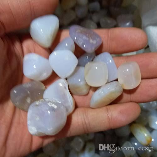 200g White Agate Gravel Tank stone crystal detritus Healing Mineral massage Rough Reiki Malou Rubble Energy vase beautify Onyx Macadam DEGAU