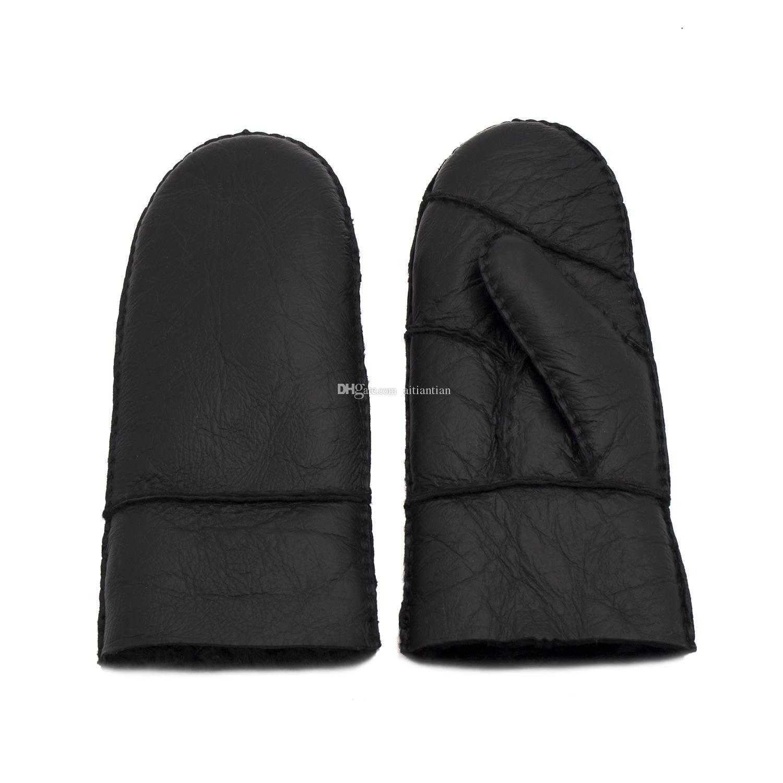 2018 yeni kadın parmaksız eldiven deri kaliteli saf yün sıcak bayanlar eldiven