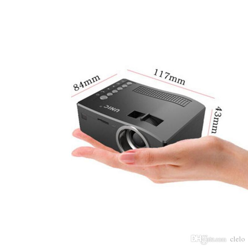e0be080877f9bf 2019 Best Sale Original Unic UC18 Mini LED Projector Portable Pocket  Projectors Multi Media Player Home Theater Game Supports HDMI USB TF Beamer  From Clelo, ...