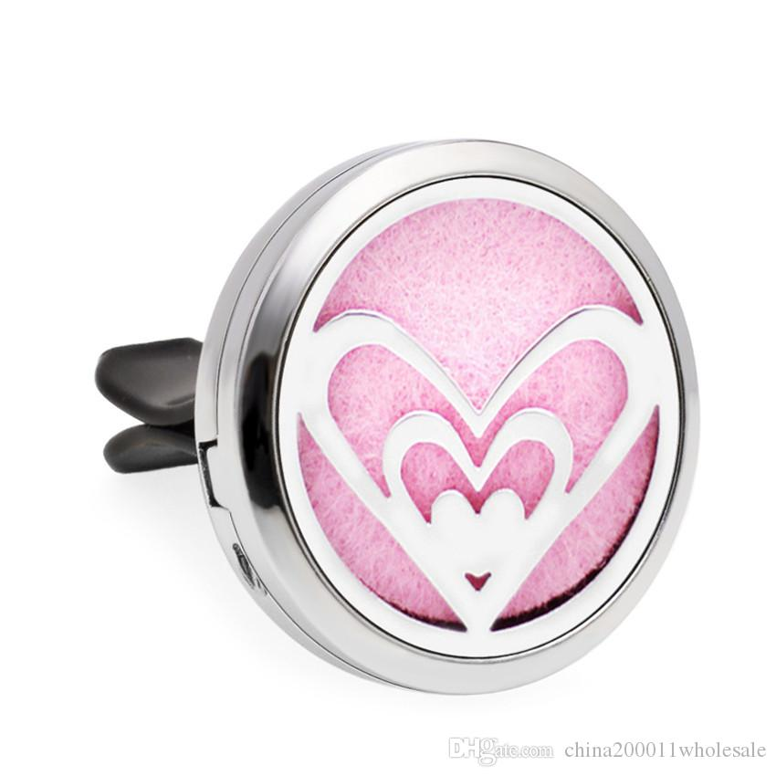 Love Paw Heart Moon Stars Guitar 30mm Magnet Essential Oil Aromatherapy Car Diffuser Locket Perfume Locket Vent Clip Pads