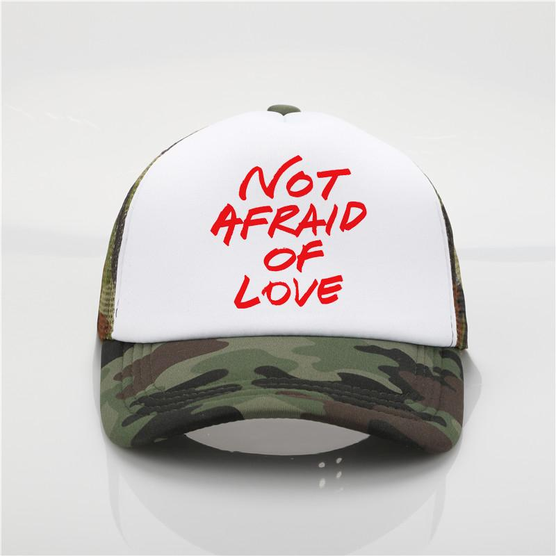 Latest Model Not Afraid Of Love Printing Net Cap Baseball Cap Men Women  Summer Trend New Youth Joker Sun Hat Beach Visor Hat Baseball Caps For Men  Mesh Hats ... ac50c86eca7