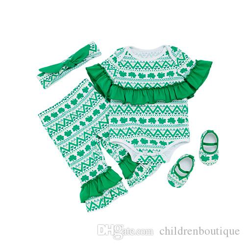 29a4c40cf15 Saint Patrick s Day Clothes Infant Toddler Girls Clothing Sets Green ...