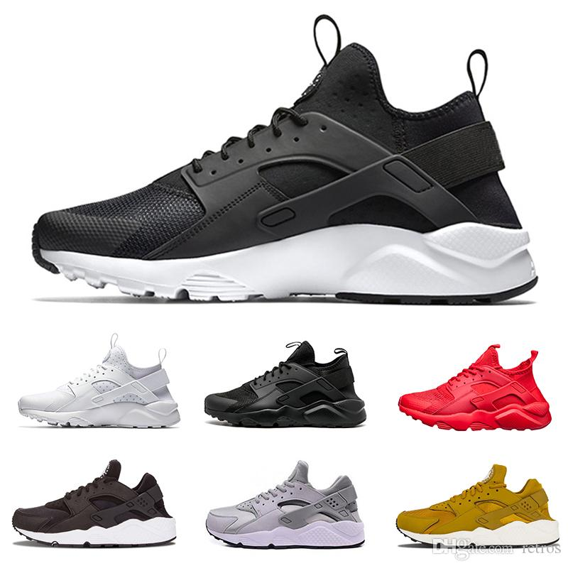 2ebbee71dff94d Купить Оптом Nike Air Huarache Дизайн Huarache Ultra Run 1.0 4.0 Тройная  Черная Белая Красная Золотая Кроссовка Для Мужчин Женская Одежда Huaraches  ...