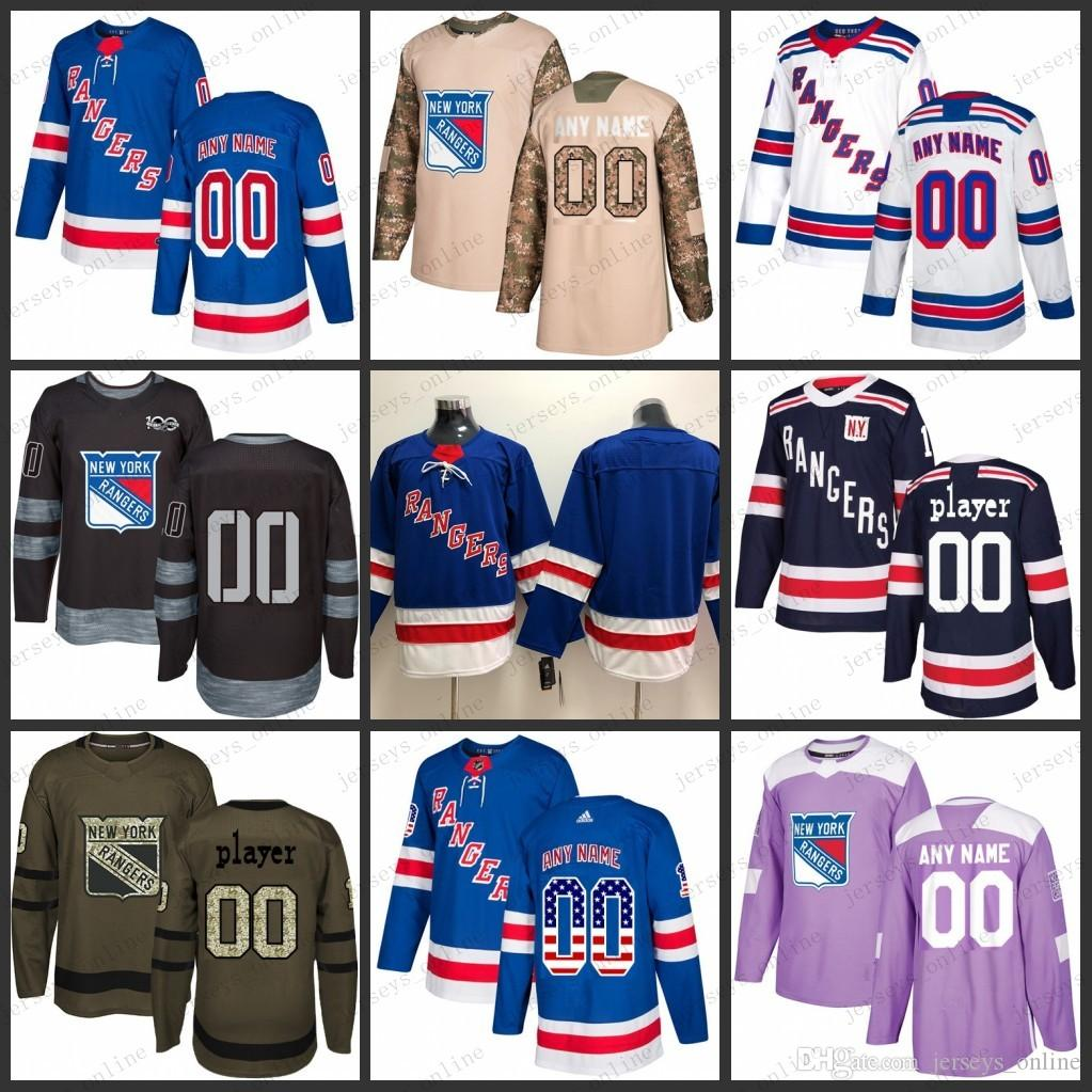 sale retailer 1ec61 f6840 Custom Mens Women Youth New York Rangers 36 Mats Zuccarello 30 Henrik  Lundqvist Jersey 17 Jesper Fast Jerseys S-3XL
