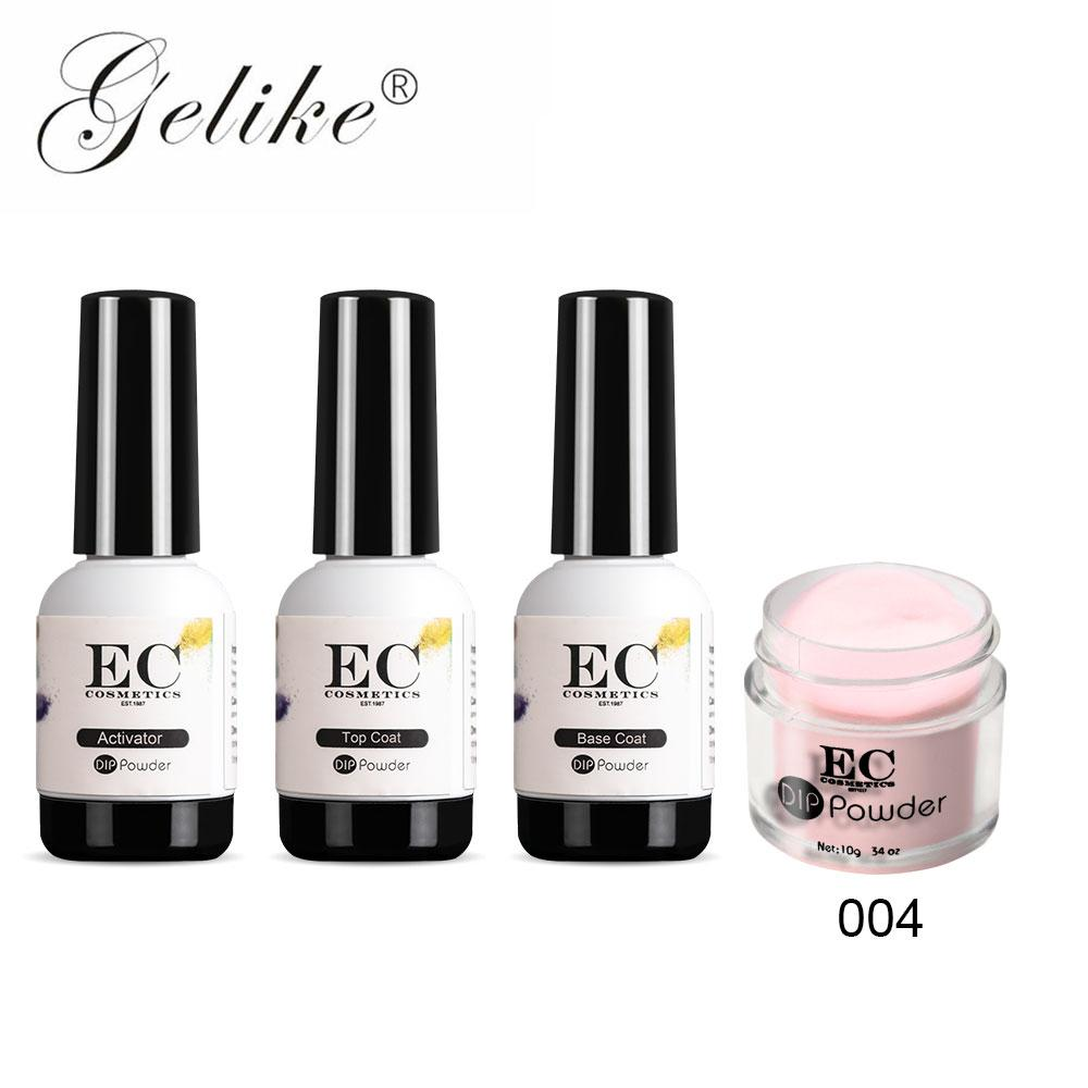 Gelike 10g/pcs Chip Free And Smudge-proof Dipping Powder Nail Colors Quick  Dry Powder Nail Polish