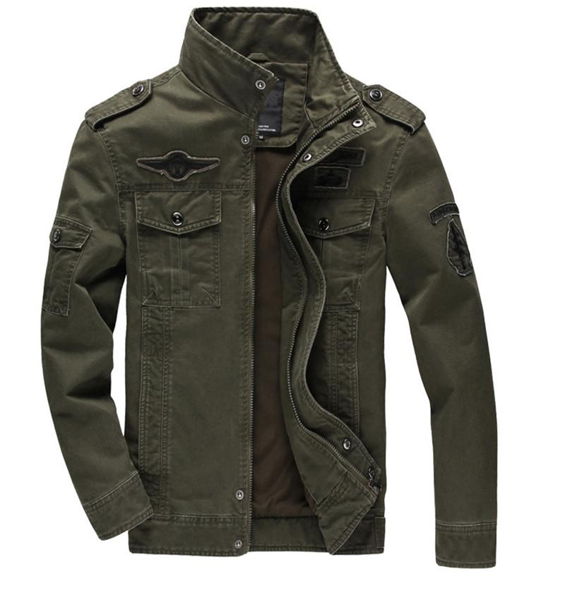 M-6XL Casual Man Winter Jackets Men Coats Army Military Outdoors Men Jacket Mens Male Coat Clothes Overcoat Spring Khaki Green