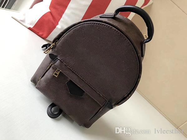 0abce39642 2018 1Cowhide Backpack Knapsack Mini New Style MM Women Backpack ...
