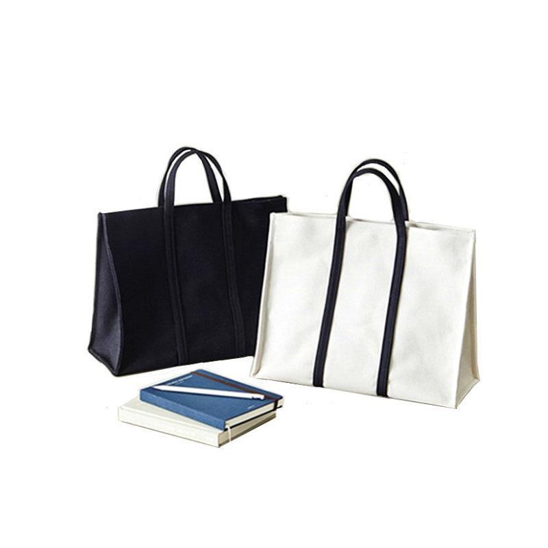 68a9906ef0 Hot Sale Fashion Blank Women Handbag Plain Black White Color Shoulder Bag  Quality Canvas Casual Tote Shopping Bag Cheap Price Black Handbag Purses  Wholesale ...