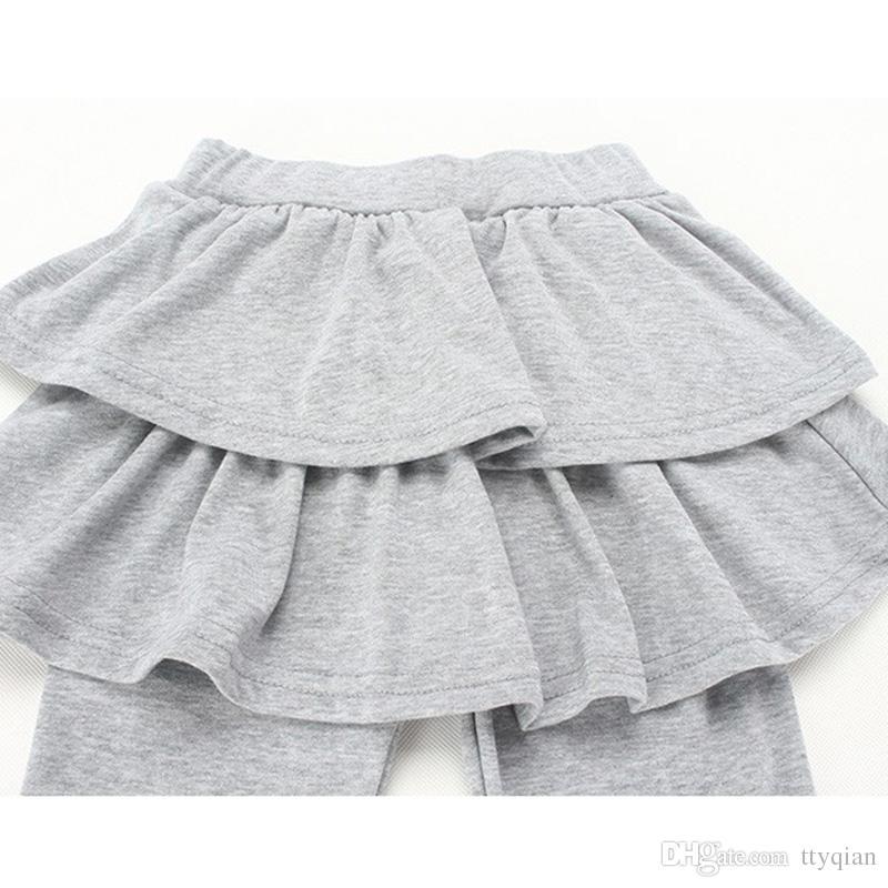 New Spring 2018 Girls Children Kids Skirt-pants Bootcut Pants For Baby Girls Cake Tutu Skirt Pants Leggings 3-11 years 25
