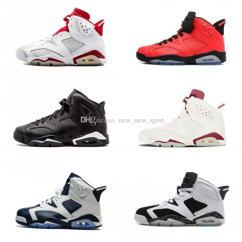 f155b363617ae9 2018 Cheap 6 6s Mens Basketball Shoes Man Unc Black Cat Infrared Sports  Blue Maroon Olympic Alternate Hare Oreo Angry Bull Sports Sneakers  Basketball Shoes ...