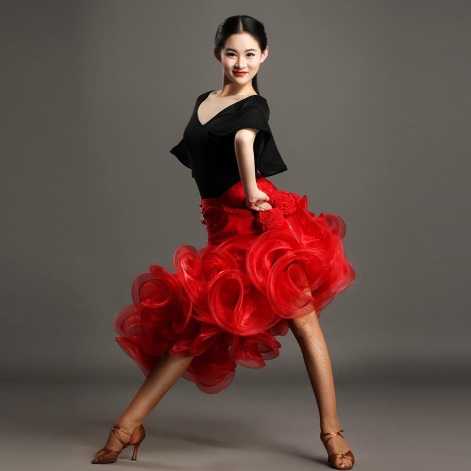 b1f98e172f4f Acquista Paillettes Rosso Nero Donna Abito Da Ballo Latino Ballare Donne  Verdi Abito Latino Frangia Tango Salsa Latino Tango Dancewear A  115.12 Dal  Xinpiao ...