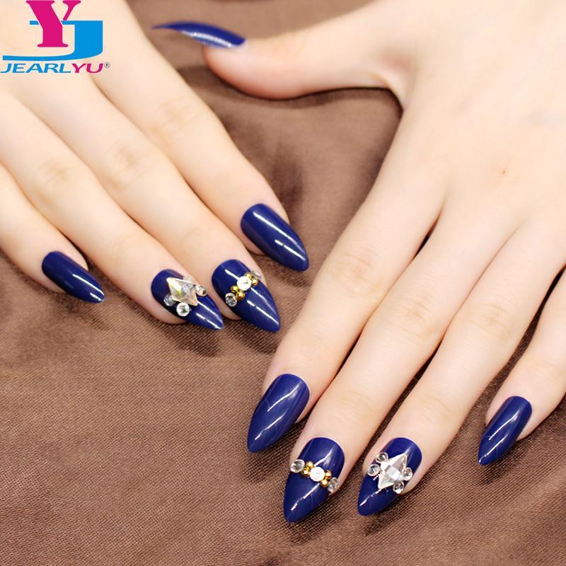 Newest Designs False Nails Stiletto 3d Fashion Style Pack Nail Art