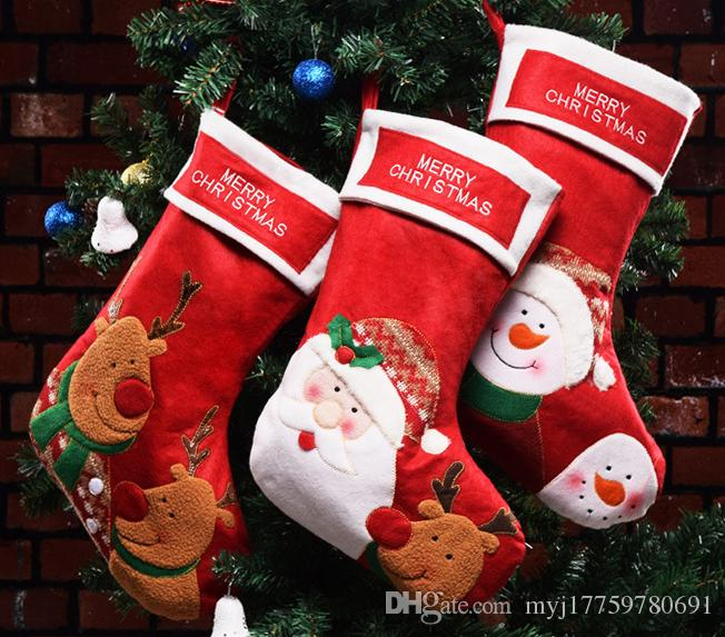 Christmas Decorations Selling Christmas Stockings Candy Bag Old Man ...