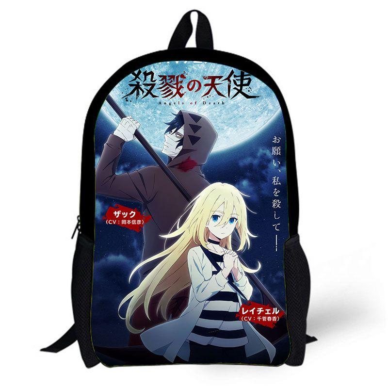 Anime Angels Of Death Backpack School Bag Satsuriku No Tenshi Ray Zack Backpack  Teenage Student Girl S Men S Book Bag Jansport Backpacks School Bags From  ... 9c581af83ecfe
