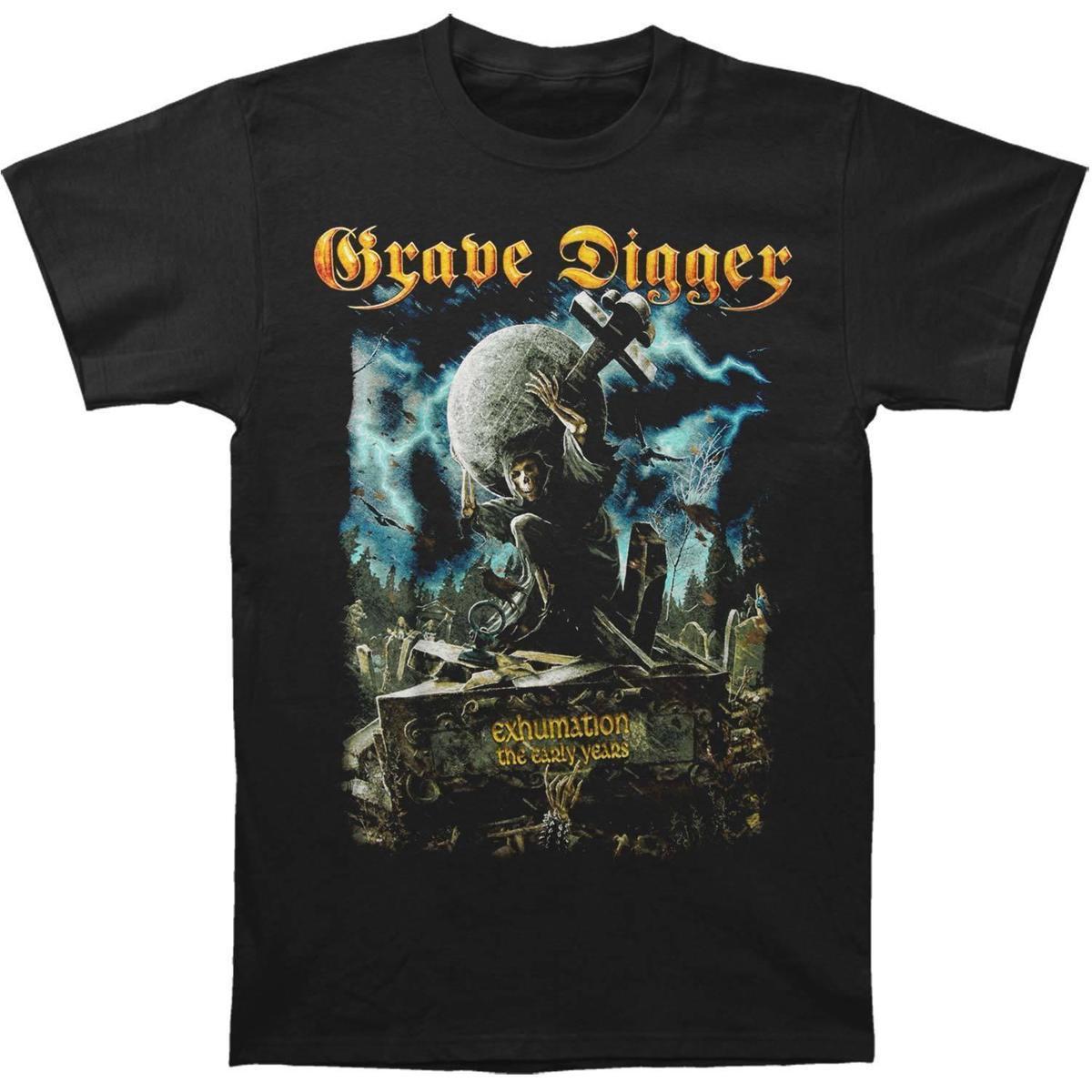Acheter Grave Digger T Shirt Exhumation Pour Homme Noir T Shirt Confortable  Décontracté T Shirt À Manches Courtes Décontracté Imprimé 100% Coton  Nouveau De ... a4738de9967