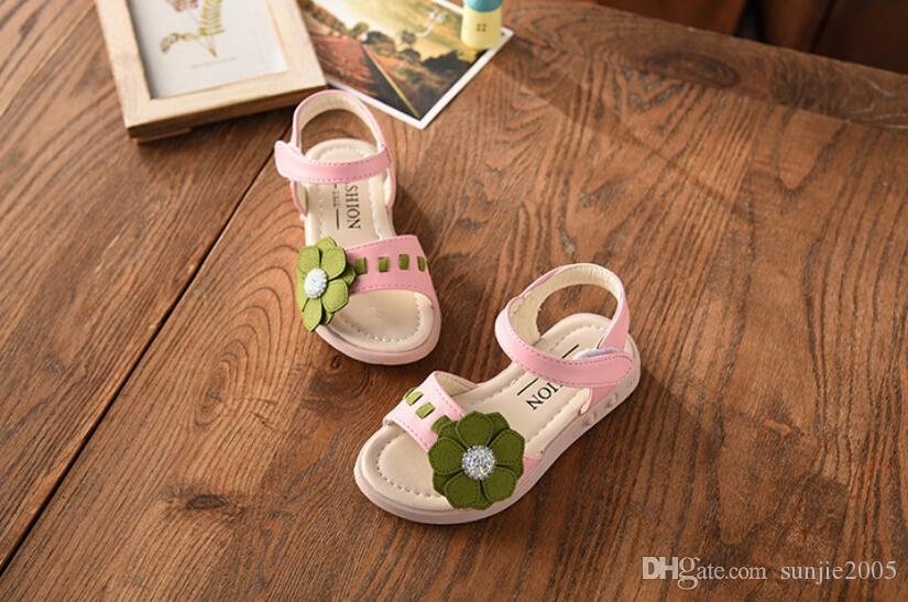 Girls Sandals Princess shoes 2018 Summer New Korean Child Sandals Baby Shoes Girls Shoes.