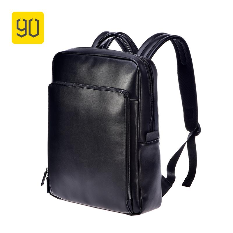 ce9c1b50fe Xiaomi Ecosystem 90FUN PU Leather Backpack Fashion Bussiness Design  Waterproof Durable Bag For College School Travel Black Cool Backpacks Travel  Backpack ...