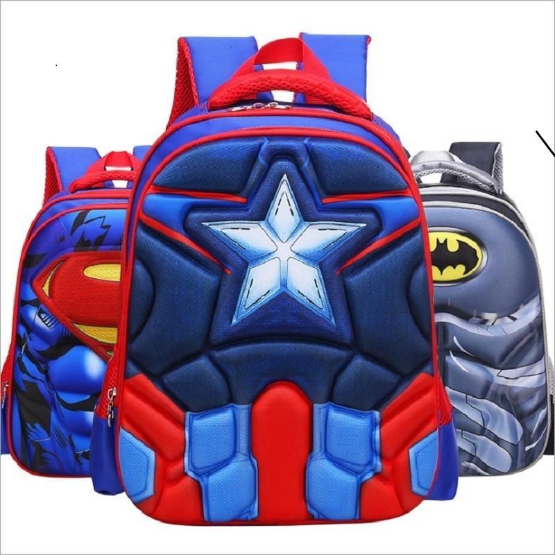 8e350b3fb62c0 Großhandel Heiße Qualität EVA 3D Captain America Kinder Schultaschen Junge  Spiderman Schule Rucksack Geeignet Für 6 12 Jahre Alte Kinder Tasche  Y18110107 ...