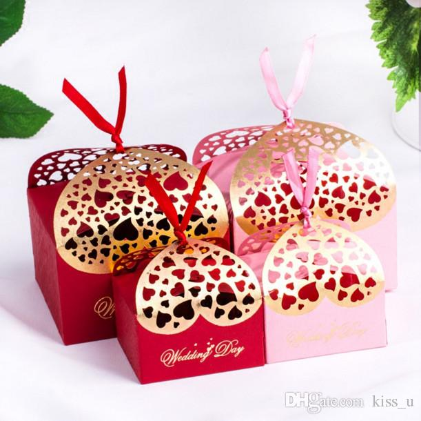 Laser Cut Wedding Favor Boxes 2018 New Arrival Hollow Chocolate