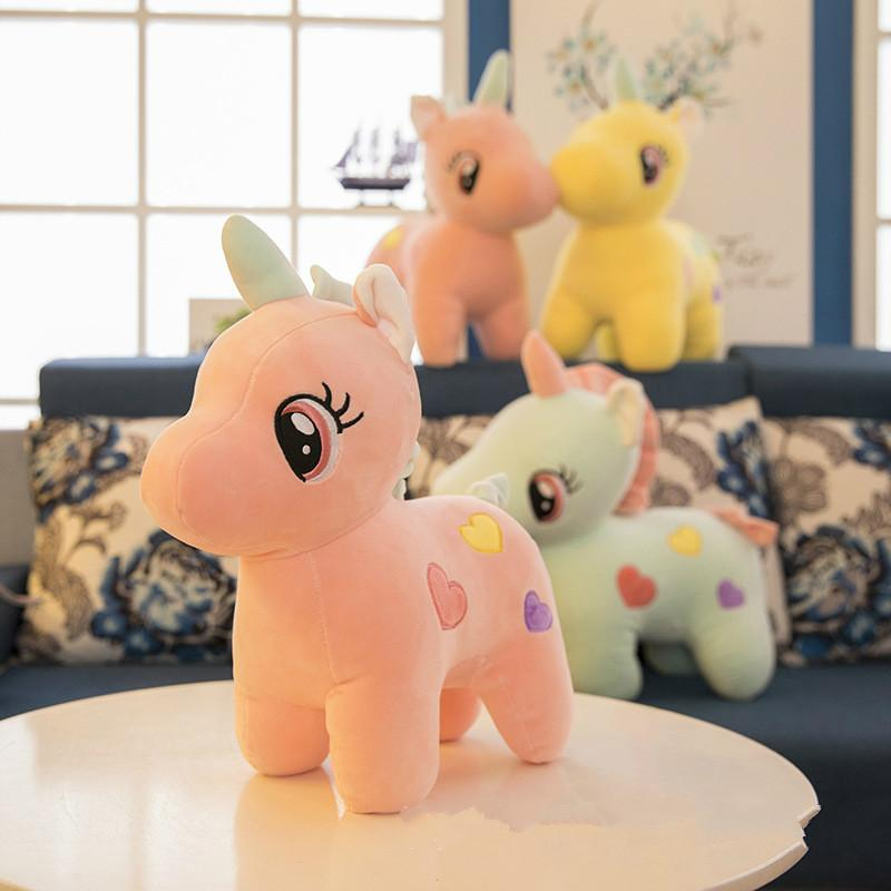 Cute Unicorn Doll Soft Horse Plush Toy Women Men Red Doll Children S
