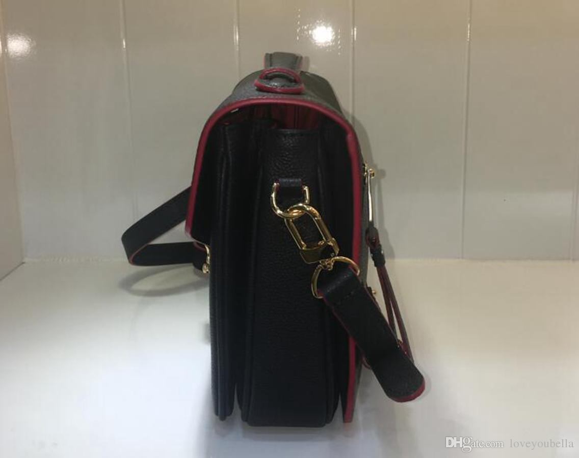 luxury Woman handbag fashion High Quality leather messenger bag metis handbag shoulder bag Messenger flap bag red blue black