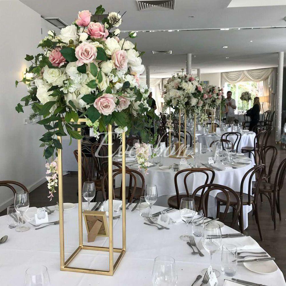 Wedding Centrepiece Flowers: Wedding Flower Vase Metal Flower Stand Gold Flower Column