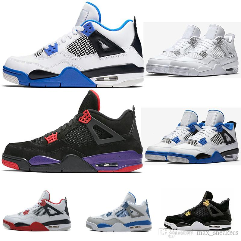 8f2978b983ac 2019 Hot Sale Cheap Basketball Shoes 4s Oreo Fear Red Royalty White Cement  Raptors Sneakers Sports Shoe Mens Womens Designer Trainers US7 13 Running  Shoes ...