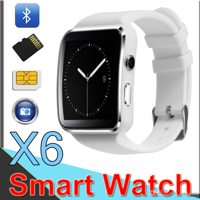 41227155b76 Compre Smartwatch X6 Bluetooth Esporte Saúde Relógio Com Relógio Da Câmera  Suporte Sim Cartão Tf Relógios Inteligentes Android A1 A3 Dz09 Xx2 De  Xusiton