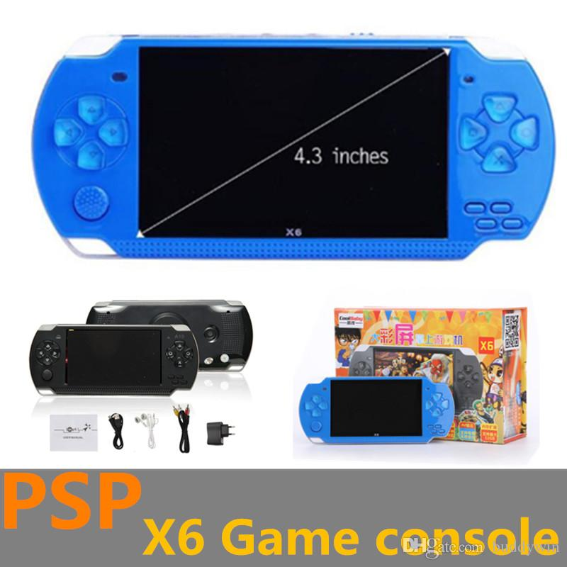 Hot 8GB 4 3 Inch LCD Handle Game Player MP3 MP4 MP5 Player Video FM Camera  Portable Game Console With Retail Box