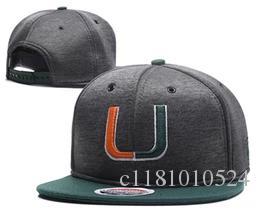 separation shoes 4b687 c6e5d New Caps Miami Hurricanes 2018 College Football Snapback Hats Cap Gray  Color Team Hats Mix Match Order All Caps in stock Wholesale
