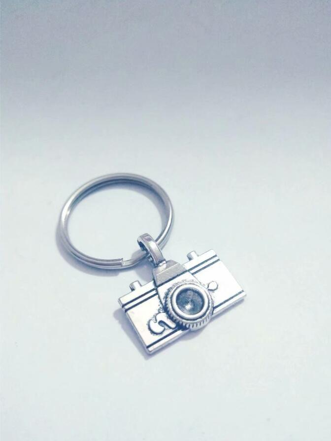 Fashion jewelry Tibetan silver Photographer Cameras charm pendant key chain ring Car Bag Decorations Keychain A19