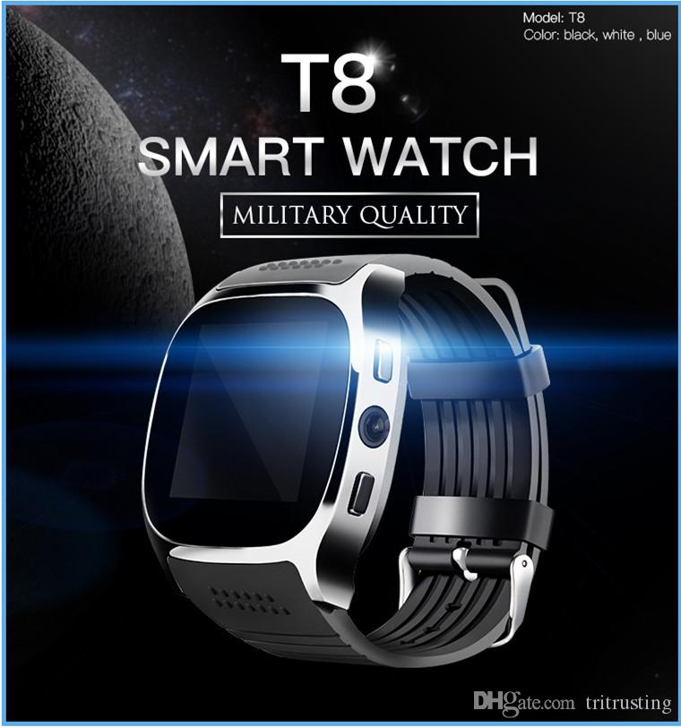 T8 Bluetooth Smart Watch Support SIM &TF Card With Camera Sync Call Message Men Women Smartwatch Watch For Android MQ50